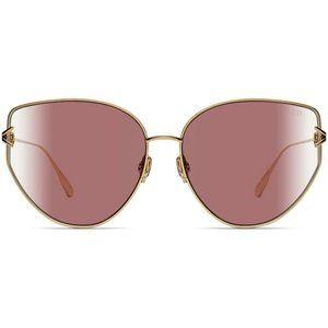Dior Sunglasses Rose / Gold  w/Pink Lens Women